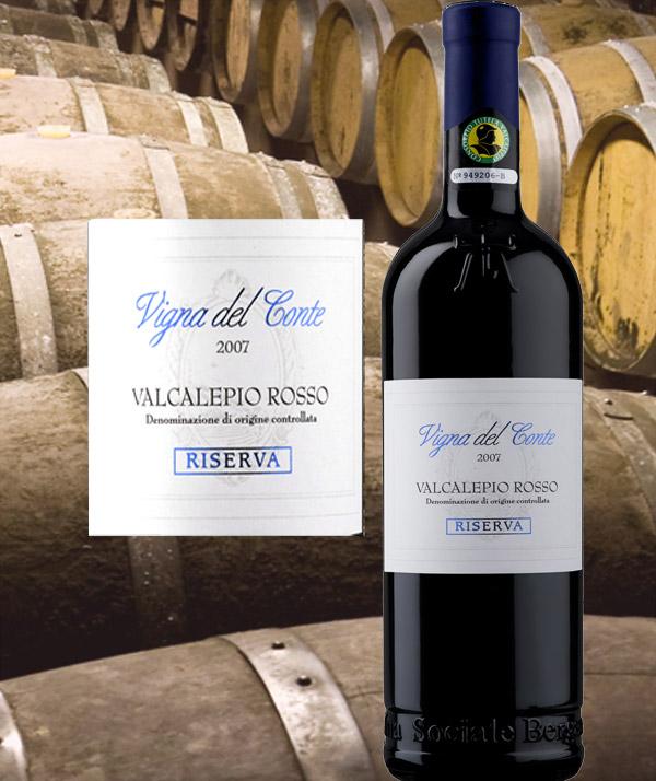 Vigna del Conte Valcalepio Rosso DOC Riserva - Cantina Bergamasca